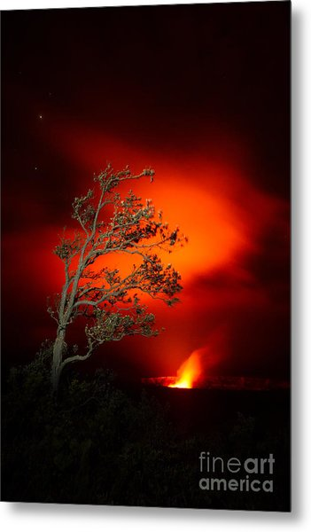 Volcano National Park Glow All Profits Go To Hospice Of The Calumet Area Metal Print