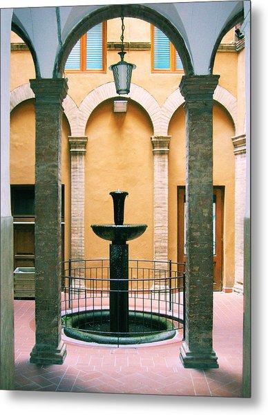 Volterra Courtyard Metal Print