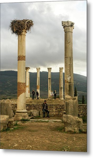Volubilis Archeological Site Metal Print by Photostock-israel