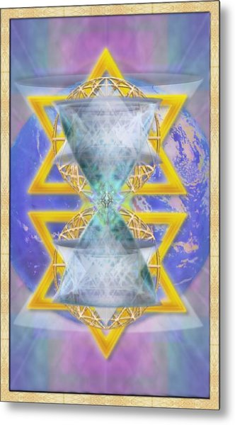 Vortex Chalice Spheres And Star Over Earth Metal Print