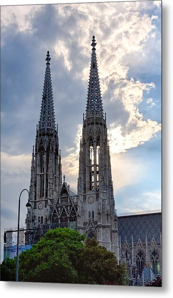 Votive Church Towers Metal Print by Viacheslav Savitskiy