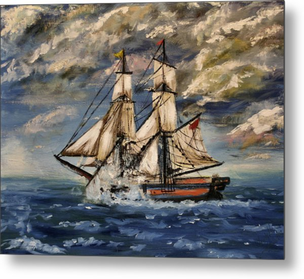 Voyage Of The Cloud Chaser Metal Print