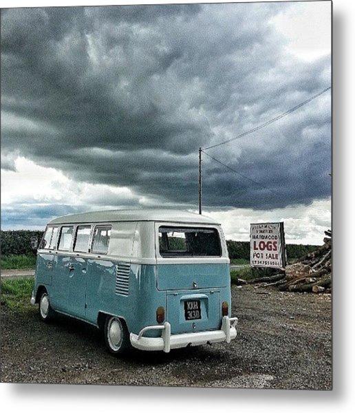 #vw #camper #bus #splitty #splitscreen Metal Print