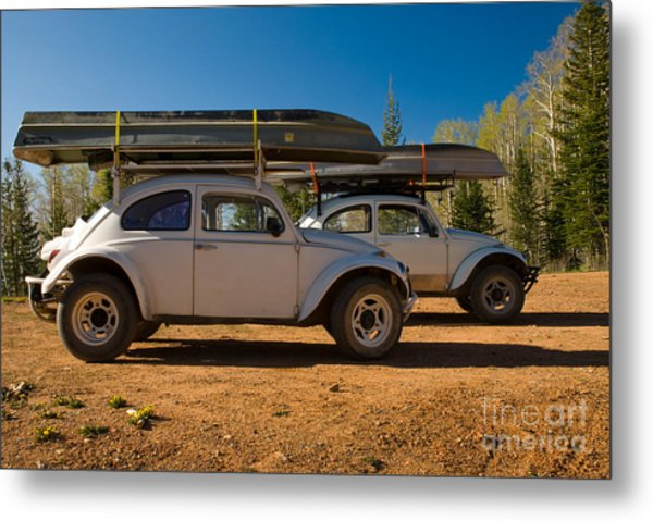 Vw Mountain Bugs Metal Print