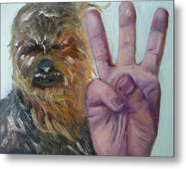 W Is For Wookie Metal Print