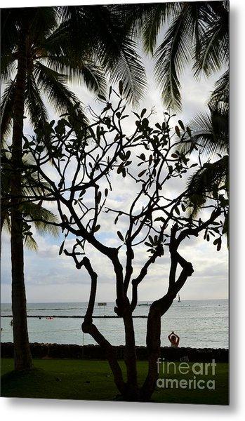 Waikiki Beach Hawaii Metal Print
