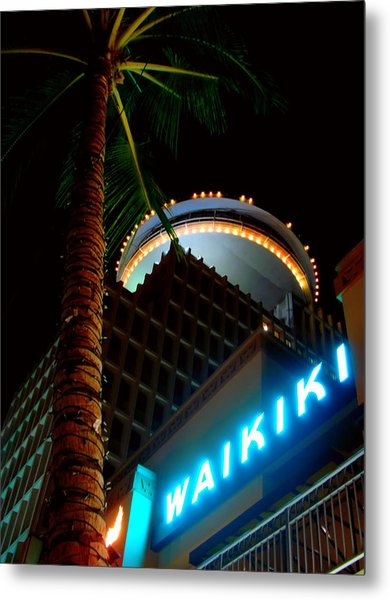 Waikiki Nightlife Metal Print