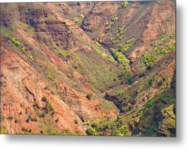 Waimea Canyon Abstract Metal Print