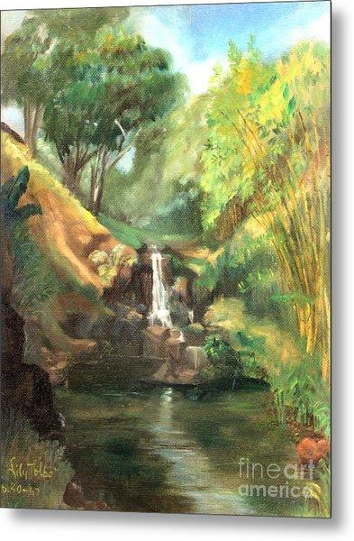 Waimea Falls Oahu Hawaii - 1970 Metal Print