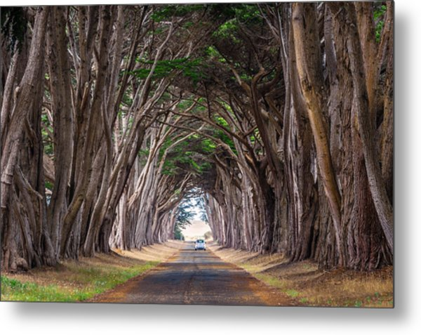 Wait For Me At The End Of Tunnel Metal Print
