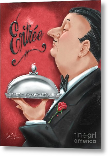 Waiter With Entree  Metal Print