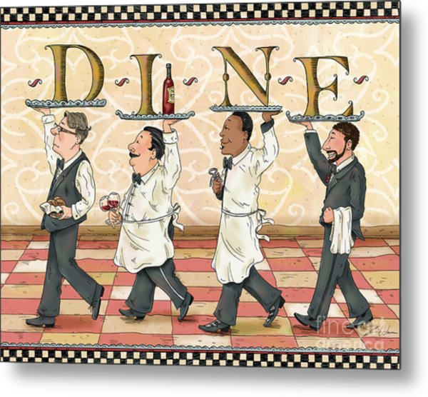 Waiters Dine Metal Print