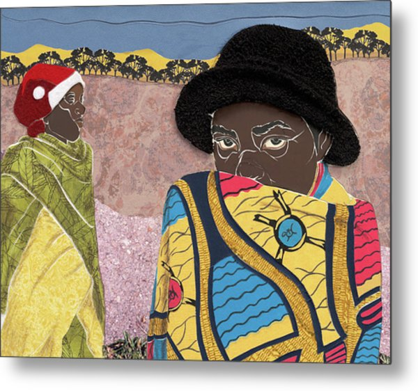 Waiting - Congo Refugee Camp Metal Print