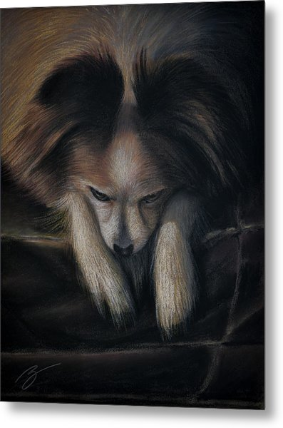 Waiting For Bed - Pastel Metal Print