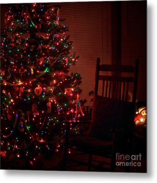 Waiting For Christmas - Square Metal Print