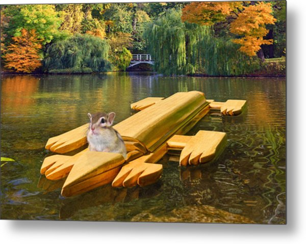 Waiting For The Race Metal Print by Chipmunk