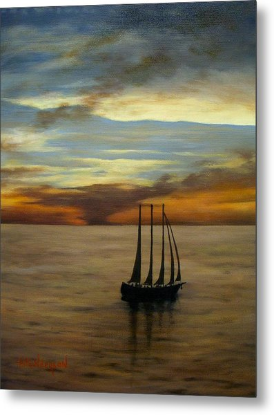 Waiting For The Wind Metal Print by Francine Henderson