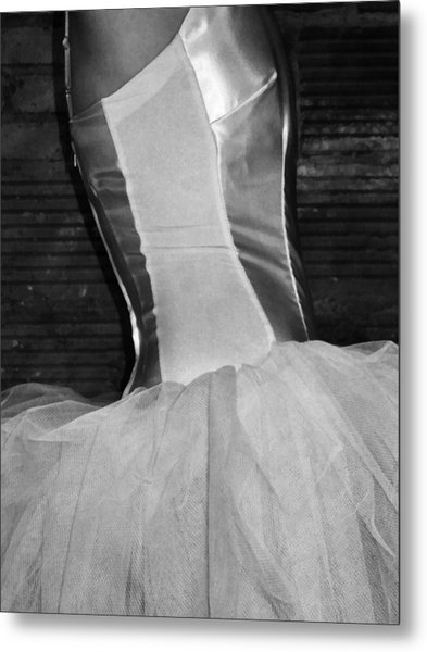 Waiting Her Turn Bw Metal Print