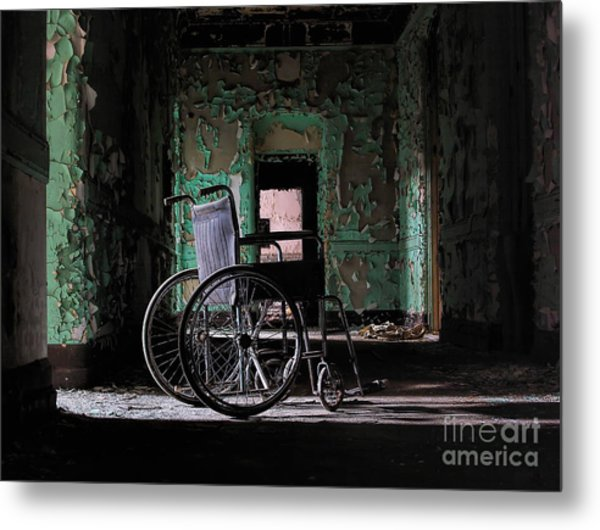 Waiting In The Light Metal Print