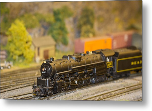 Waiting Model Train  Metal Print