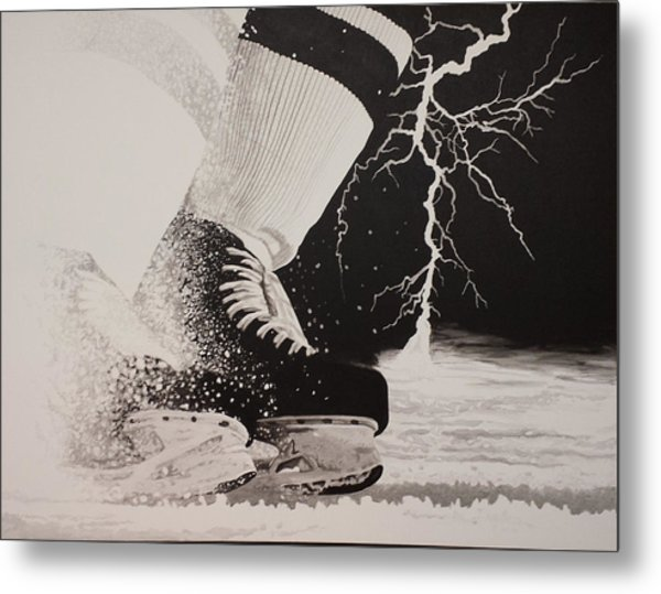 Waiting On The Thunder Metal Print by Scott Robinson
