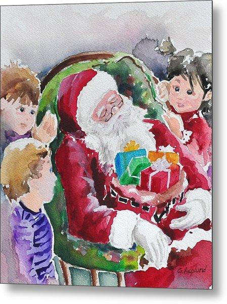 Waiting Up For Santa2 Metal Print