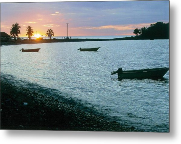 Waitukubuli Sunset Metal Print