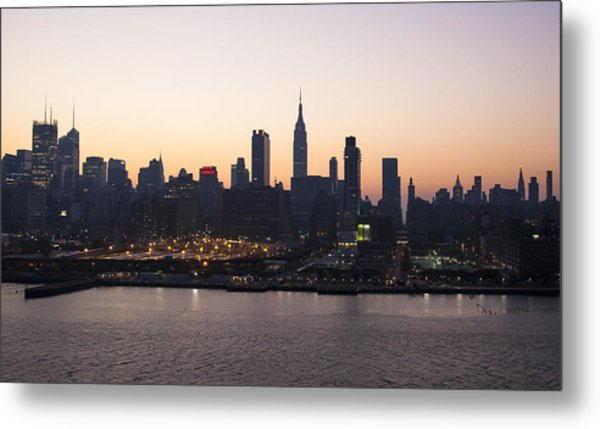 Wake Up Big Apple Metal Print