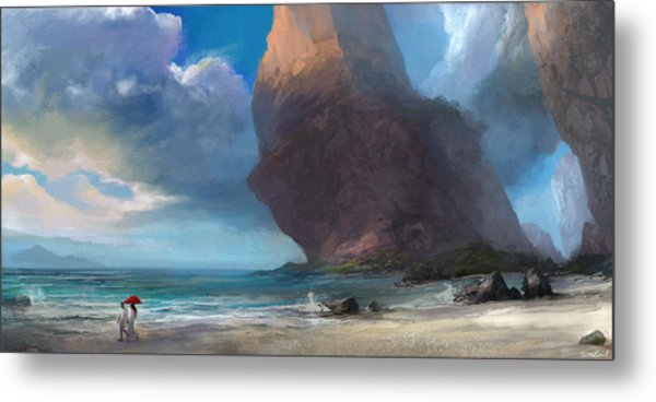 Walk On The Beach Metal Print
