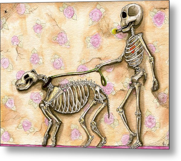 Walk The Dog Metal Print