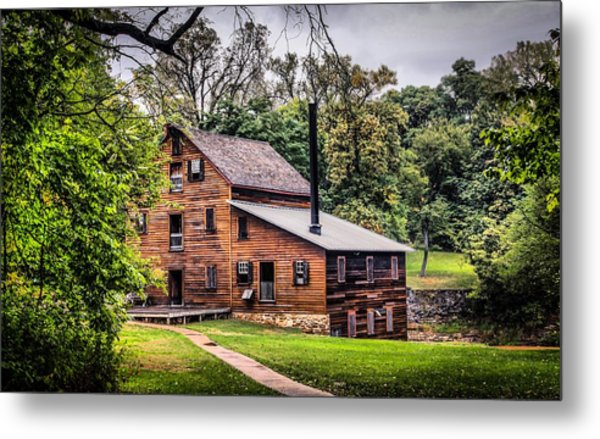 Walk To The Mill Metal Print