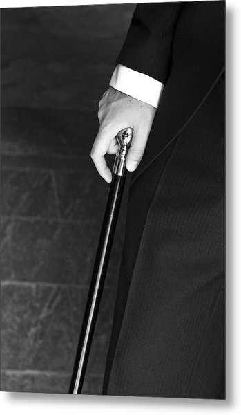 Walking Cane Metal Print