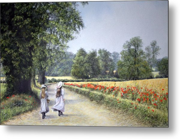 Walking Home Metal Print