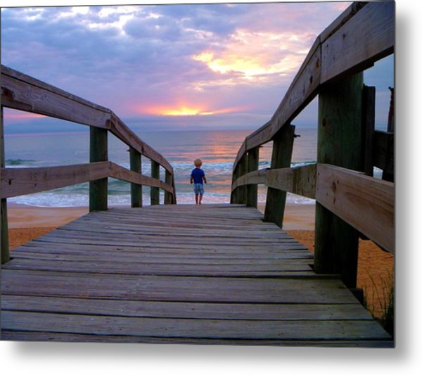Walking Into Paradise Metal Print