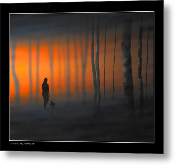Walking Kurt Metal Print