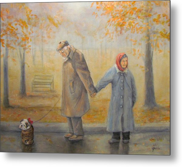 Walking Miss Daisy Metal Print