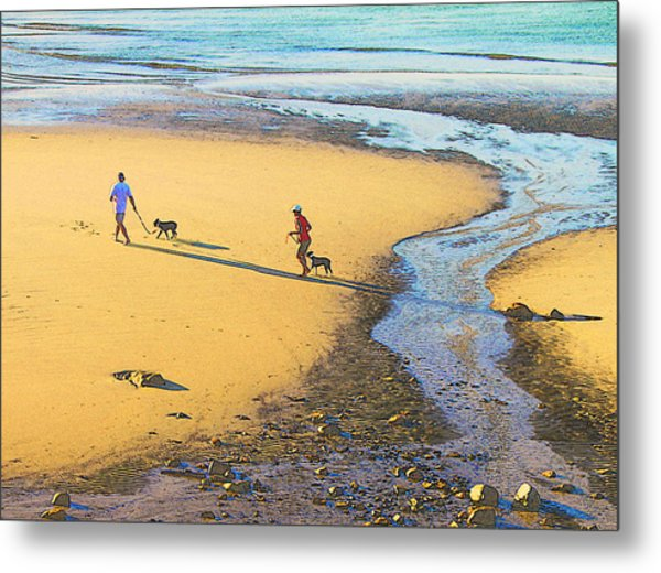 Walking The Dogs Metal Print