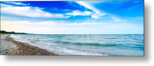 Walking The Shore - Extended Metal Print