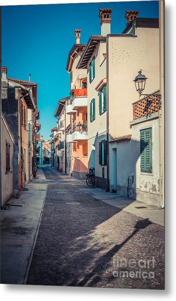 walking through Grado - through the past Metal Print