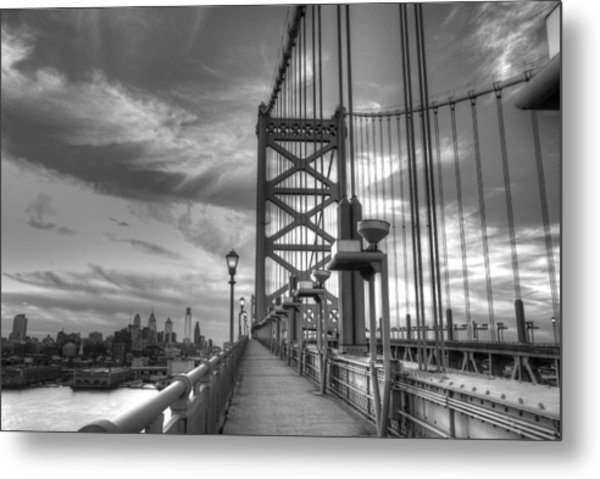 Walking To Philadelphia Metal Print