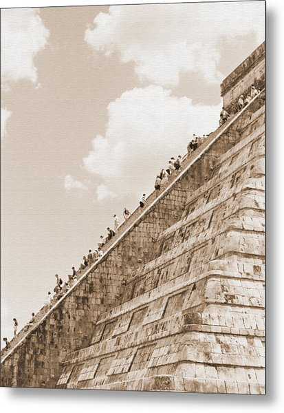 Walking Up The Pyramid Metal Print