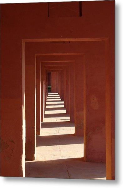 Walkway By The Taj Metal Print