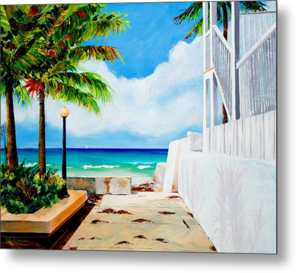 Walkway To Cuba Metal Print