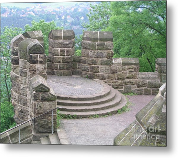 Wall In Landscape  Metal Print
