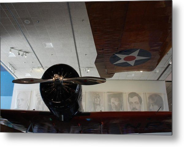Wall Of Great Aviators Metal Print