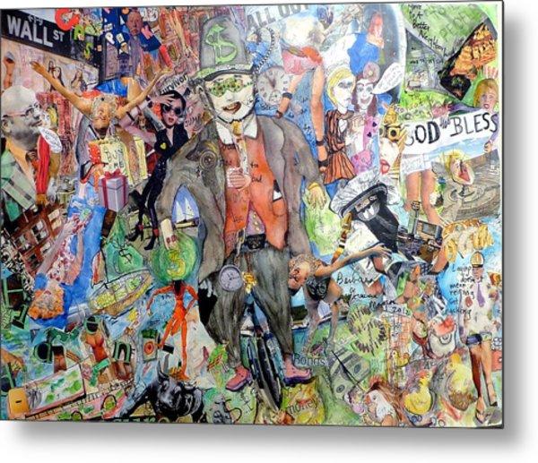 Wall St./main St. Metal Print by Barb Greene mann