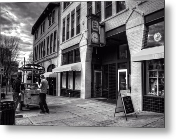 Wall Street Hot Dogs In Asheville Nc Metal Print