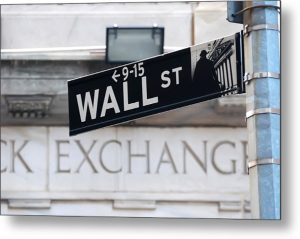 Wall Street New York Stock Exchange Metal Print