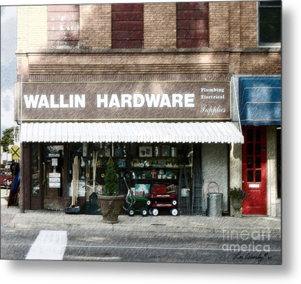 Wallin Hardware Metal Print