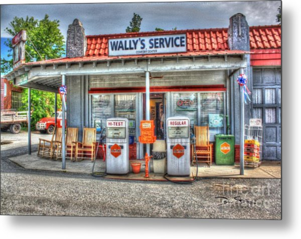 Wally's Service Station Metal Print